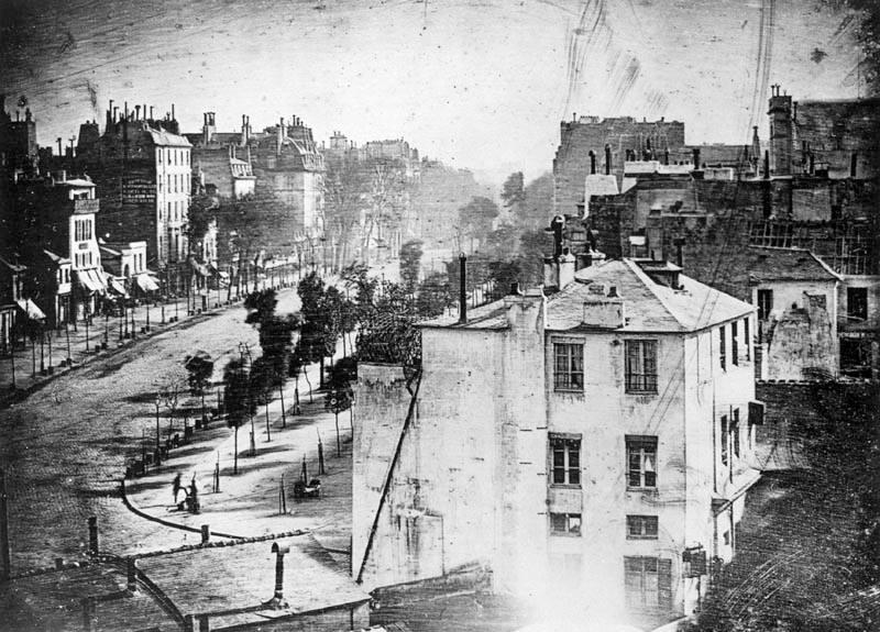 Една от първите дагеротипни фотографии направени от Луи Дагер!