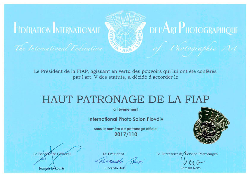 International-Photo-Salon-Plovdiv---FIAP-CERTIFICATE