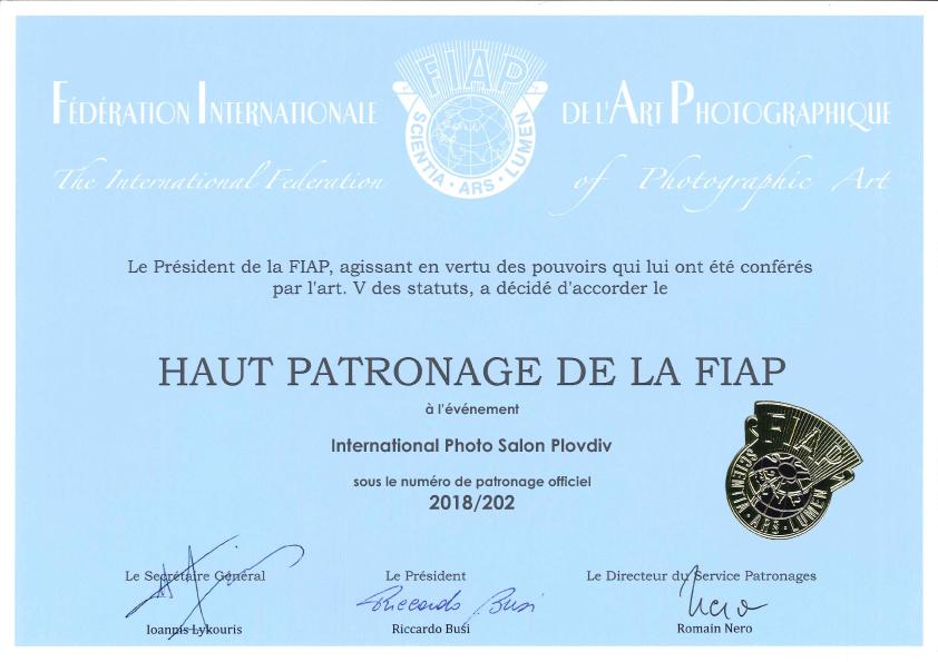 FIAP Certificate
